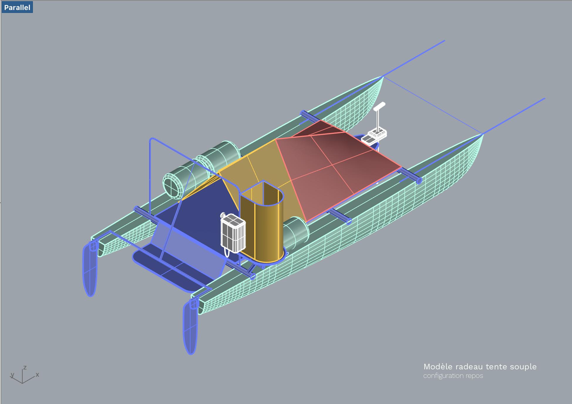 Pré-maquette de l'embarcation réalisée par les équipes R&D d'EDF