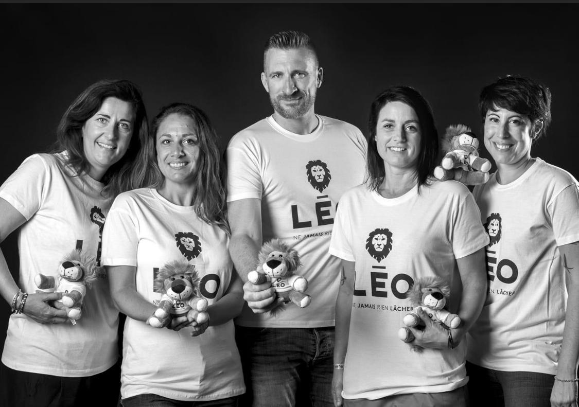 L'équipe de l'association Léo dont la maman de Léo, 2e en partant de la droite
